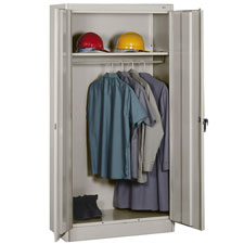 Tennsco Heavy-gauge Steel Wardrobe Cabinets