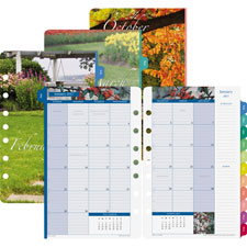Day-Timer Garden Path Monthly Calendar Refills