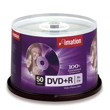 Imation Single Sided Branded Spindle DVD+R