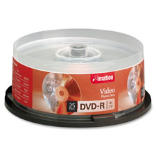Imation Single-Sided Branded Spindle DVD-R Discs