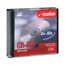 Imation Branded CD-RW Rewritable Discs