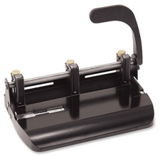 2-3 hole punch,adjustable w/lever handle,punch 32 sheets,bk, sold as 1 each
