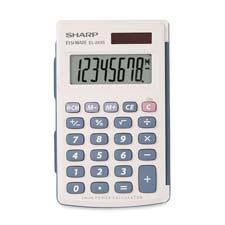Sharp 8-Digit Dual Power Handheld Calculator