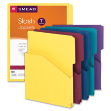 "Slash jackets, 1"" expansn, letter,9-3/8""x11-1/2"", 5/pk, ast, sold as 1 package, 50 each per package"