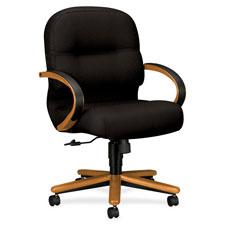 Hon Medium Oak Managerial Mid-back Swivel Chairs