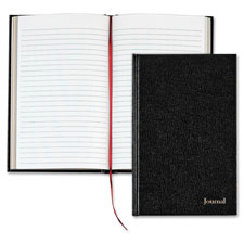 "Professional journal, casebnd, 80 sheets, 8-1/2""x11"", black, sold as 1 each"