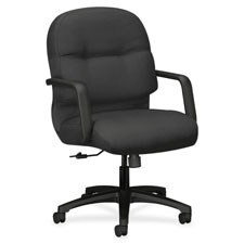 "Managerial mid-back chair,26-1/4""x28-3/4""x41-3/4"", charcoal, sold as 1 each"