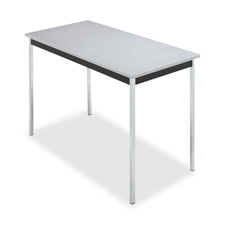 "Iceberg OfficeWorks Utility Table - Rectangle - 24"" x 48"" x 29"" - Mahogany Black"