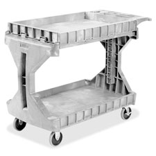 "Utility cart,foam plastic,400 lb. capacity,24""x45""x35"",gray, sold as 1 each"