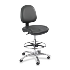 SAF 6748BL Safco True Comfort Gel Series Stool SAF6748BL