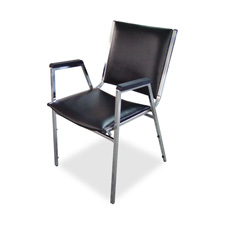 "Stacking chair,plastic arm,20-3/4""x20-3/8""x35-5/8"",4ct,black, sold as 1 carton, 4 each per carton"
