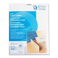"Laser labels, address, 1/2""x1-3/4"", 2000/pk, clear, sold as 1 package, 400 each per package"