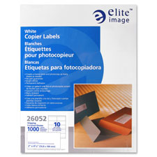 Elite Image White Copier Full Sheet Labels