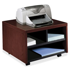 "Printer/fax cart, mobile, 20""x19-7/8""x14-1/8"", mahogany, sold as 1 each"