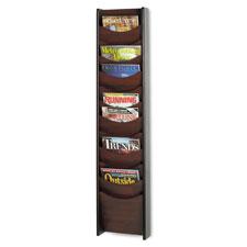 Safco 12-Pocket Wood Magazine Rack