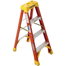 R D Werner Fiberglass Step Ladder