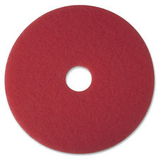 "Buffer pad, removes scuff marks, 16"", 5/ct, red, sold as 1 carton, 5 each per carton"