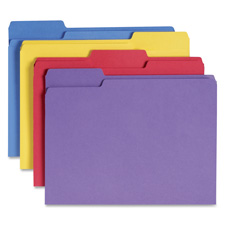 Smead 1/3 Cut Antimicrobial Colored Folders