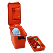"""First aid transport case,15-1/4""""x7-5/8""""x10-1/8"""",orange, sold as 1 each"""