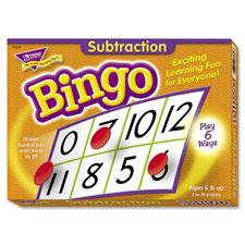 Trend Subtraction Bingo Game