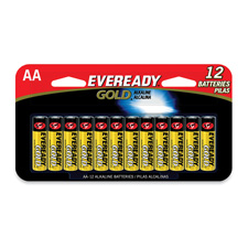 Energizer Eveready Gold AA 12 Pack Batteries