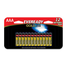 Energizer Eveready Gold AAA 12 Pack Batteries