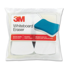 "Whiteboard eraser pads, 5""x3"", 2/pk, white/blue, sold as 1 package, 6 package per package"