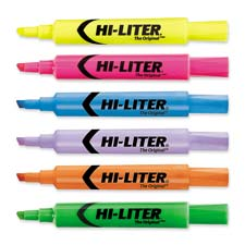 Highlighter,chisel point,2/cd,fluorescent yellow, sold as 1 package