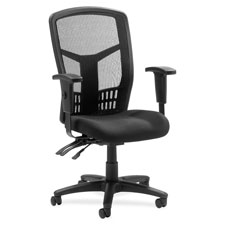 "Exec high-back chair, mesh, 28-1/2""x28-1/2""x45, black, sold as 1 each"
