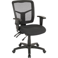 "Managerial mid-back chair,25-1/4""x23-1/2""x40-1/2"",black, sold as 1 each"