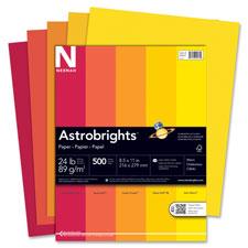 Wausau Astrobrights Warm Assortment 24lb Paper