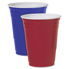 Party cups, plastic, 16 oz., 1000/ct, blue, sold as 1 carton, 20 package per carton