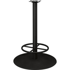"Standing table base, w/ footring,f/round tops,28""x41"", black, sold as 1 each"