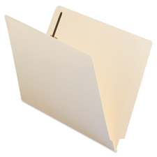 Smead Recy. Straight Cut End Tab Fastener Folders