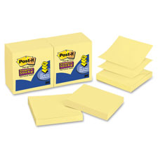 3M Post-it Super Sticky Yellow Pop-up Refills