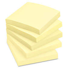 3M Post-it Classic Canary Original Note Pads