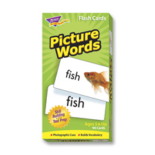 Picture words flash cards, 96 cards, sold as 1 set