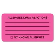 Tabbies Allergy/Drug Reaction Labels