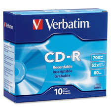 Verbatim Branded Slim Case CD-R
