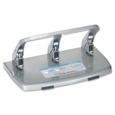 Carl Mfg Heavy-duty 3-Hole Punch w/Tray