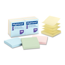 3M Highlands Self-stick Pastel Pop-up Notes