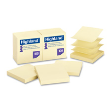 3M Highland Repositionable Pop-up Notes