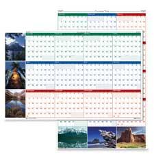 Doolittle Lamineated Write-on Wall Calendar