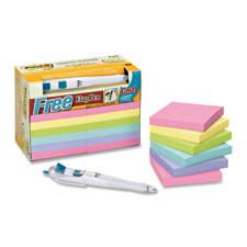 3M Pastel Post-it Notes Value Pack w/ Flag Pen