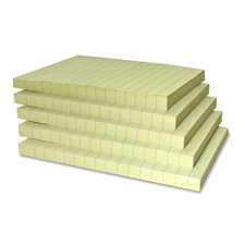 Sparco Recycled Yellow Paper Note Pads