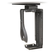 Underdesk cpu mount, 360 swivel, steel, black, sold as 1 each