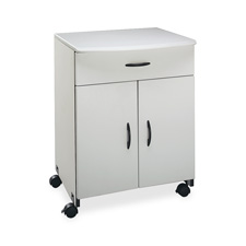 "Printer/copier stand, w/ double doors, 23""x23""x31-1/8"", gray, sold as 1 each"