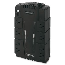 Ups backup system,230 watts,6 transformer outlets,6' cord,bk, sold as 1 each