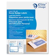 Elite Image White Name Badge Labels