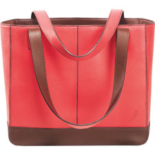 Day-Timer Pink Ribbon Leather Tote